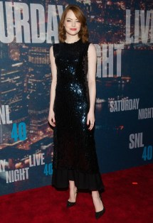 Emma Stone Black Dress