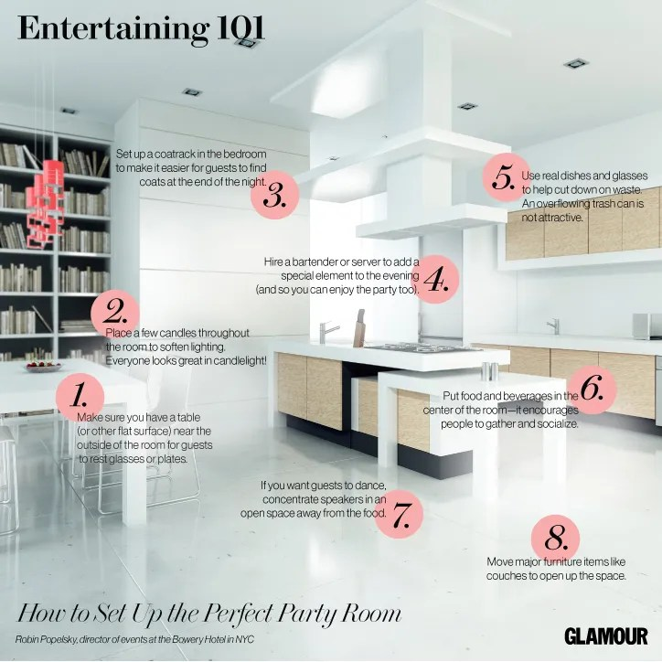 Hosting a Party? Here's How to Set Up the Room for Maximum Fun   Glamour