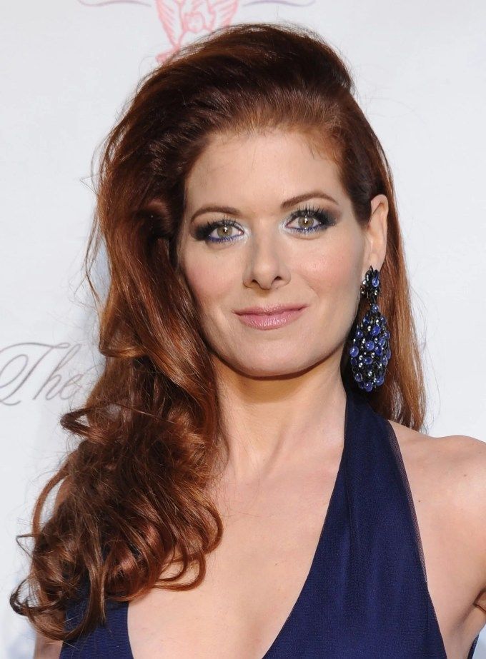 i'm not sure how i feel about debra messing's eye makeup