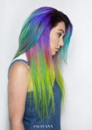 gorgeous rainbow hair color ideas