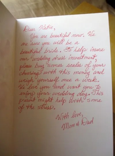 The Most Passive Aggressive Wedding Notes EVER Glamour
