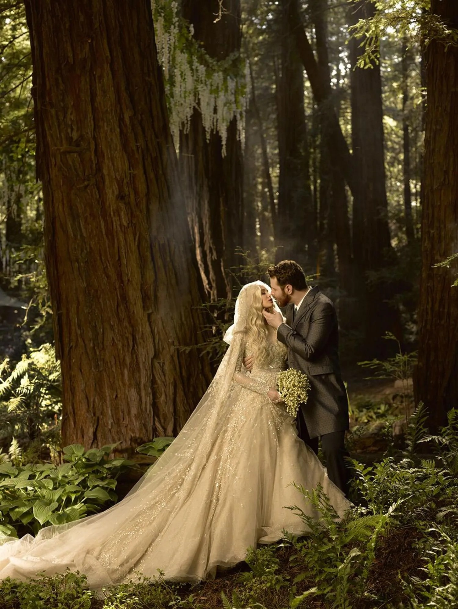 facebook billionaire sean parker did not wear a frodo costume to his wedding sadly but there s still a woodland magic theme going on here glamour