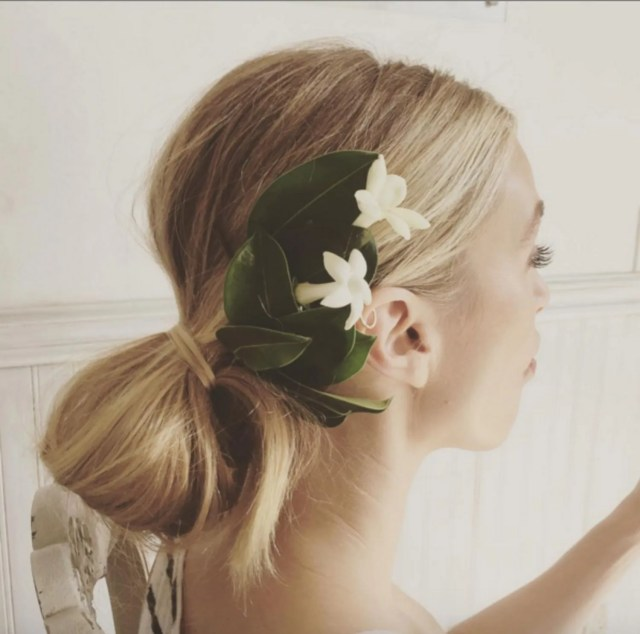 nontraditional wedding hair: whitney port's wedding hair and
