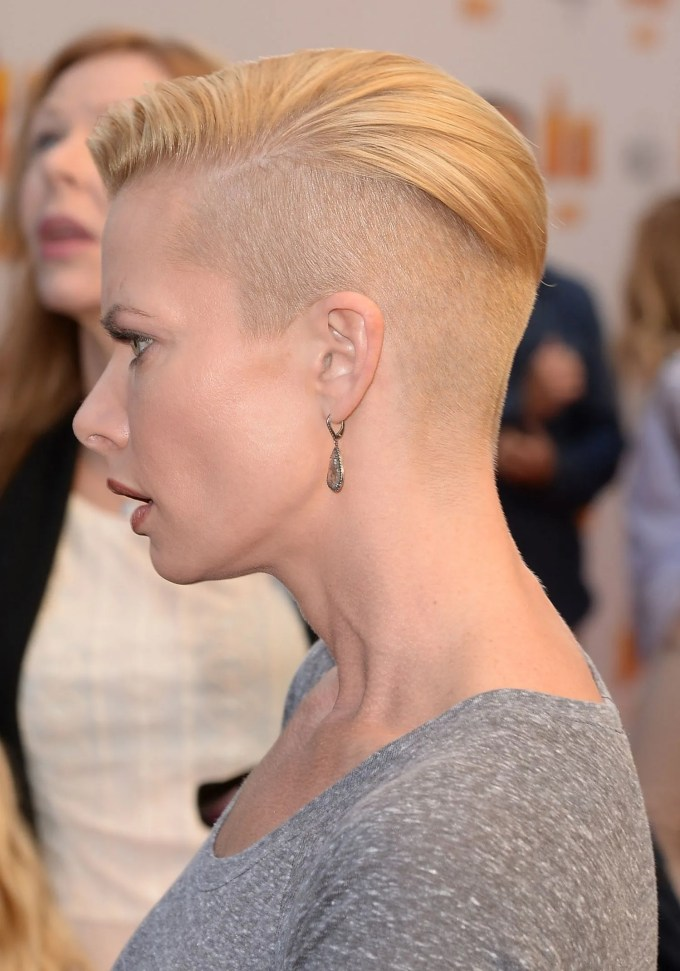 and the latest celebrity to half-shave her head is   glamour