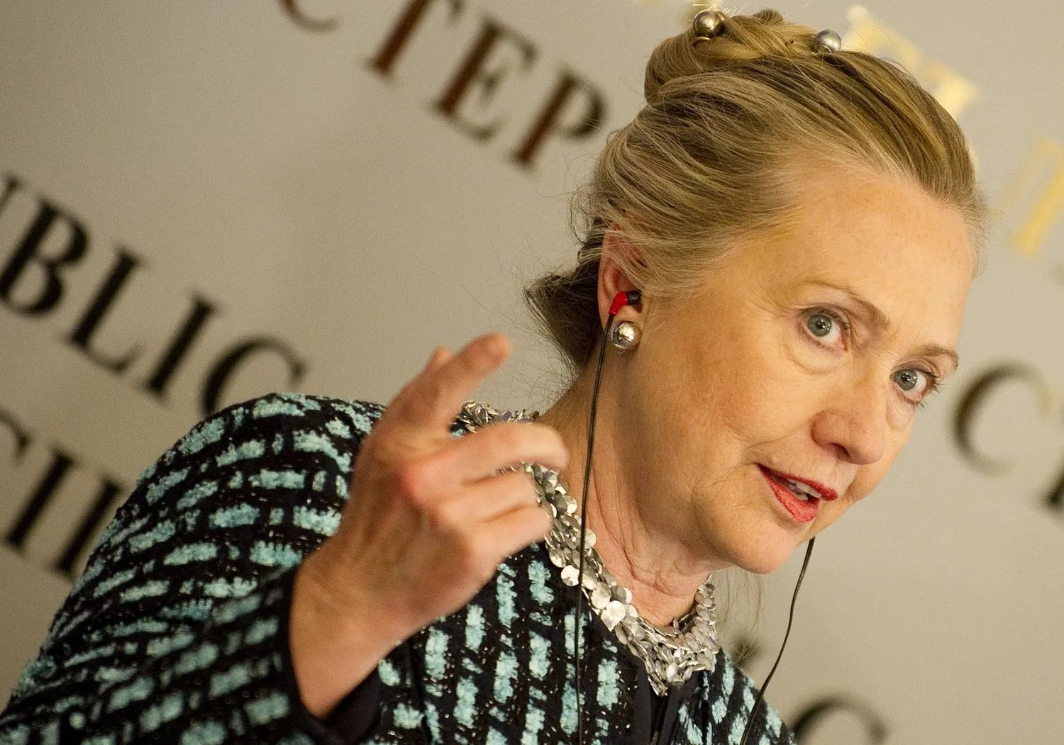 True Or False When Hillary Clintons Hair Is Pulled Back