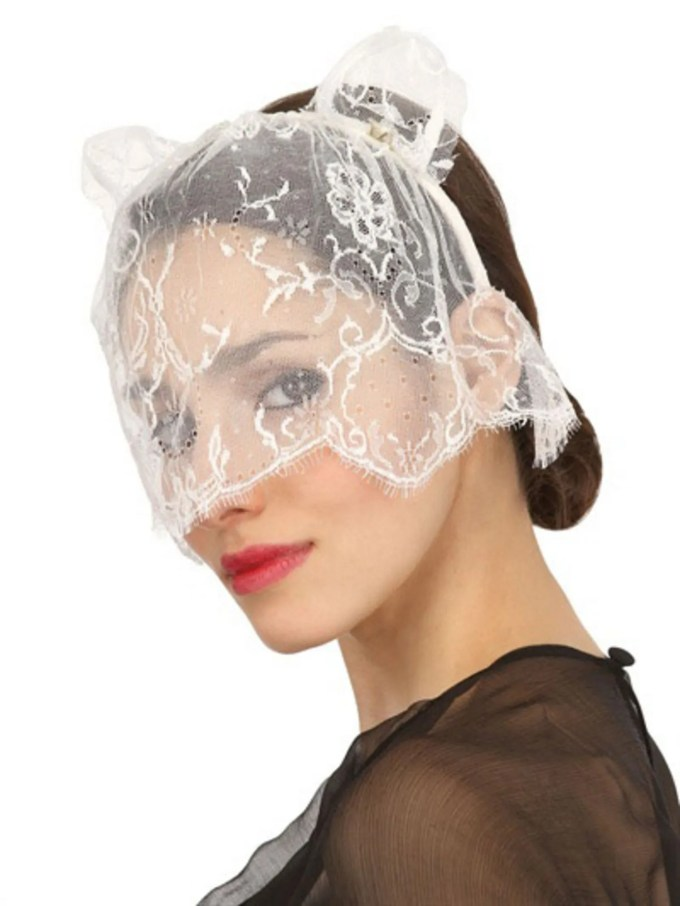 would you ever wear this hair accessory: the heidi cat veil