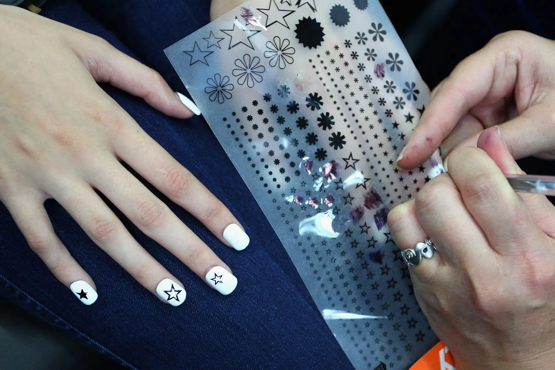 Stencils Christmas Fingernail