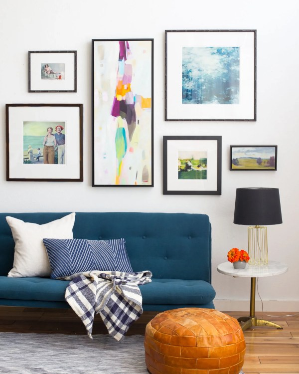 Living Room Gallery Wall Ideas