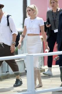 Kristen Stewart Barefoot at Cannes