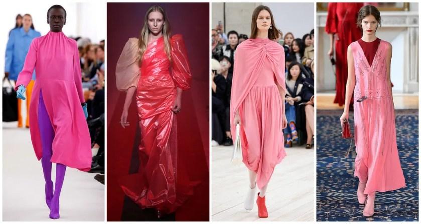 From left: Balenciaga, Gucci, Céline, Valentino