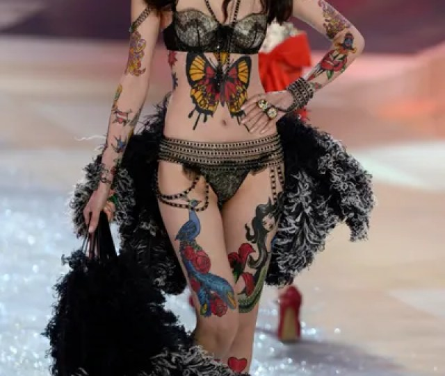 Covered In Fake Tattoos Liu Wen Proved That Not All Victorias Secret Models Have To Be