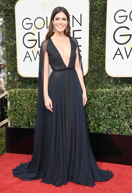 BEVERLY HILLS, CA - JANUARY 08: Actress Mandy Moore attends the 74th Annual Golden Globe Awards at The Beverly Hilton Hotel on January 8, 2017 in Beverly Hills, California. (Photo by Frazer Harrison/Getty Images)