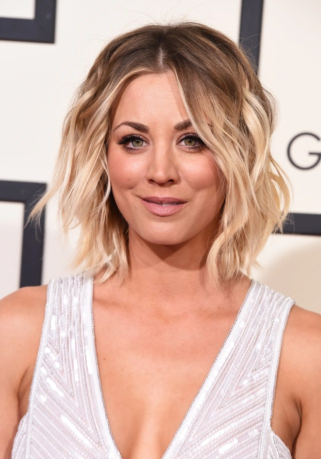 kaley cuoco hair evolution: see how she grew out her pixie