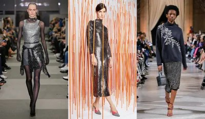 Like the chainmail trend before it the metallic paillettes spotted in various fall 2018 collections recall a sort of...