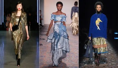 On the metallic front expect to welcome foillike finishes into your wardrobe come autumn as brands showed a proclivity...
