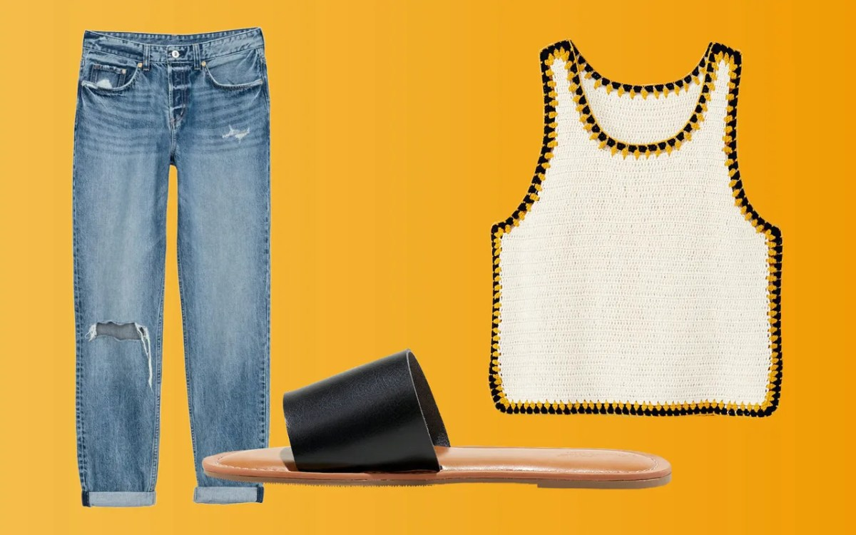 Loose and airy denim is the way to go in the summer months. Wear your go-to pair with a breathable knit tank and flat sandals.
