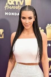 kim kardashian west wore cornrows