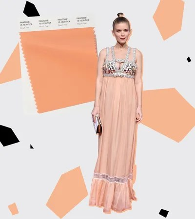 Peach is coming to replace all the Millennial Pink in your closet. Pantone called out two peachy shades that'll be big...
