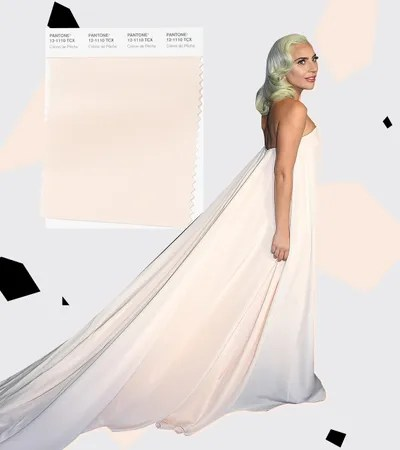 Finally there's Crme de Pche. Lady Gaga wore a Calvin Klein gown to the Critics Choice Awards this hue. It's as much an...