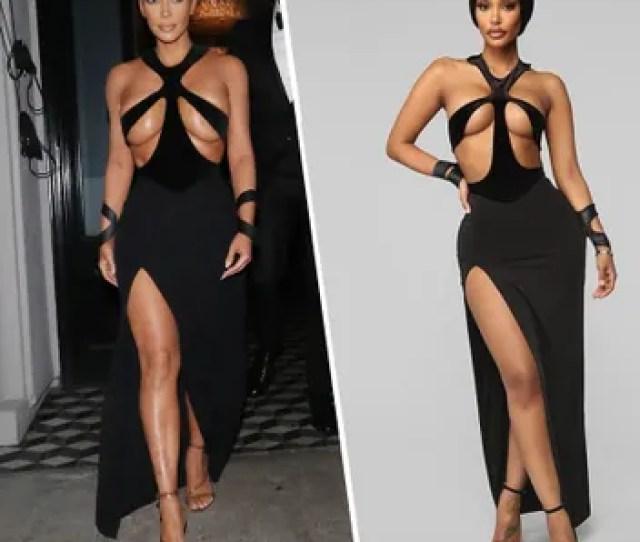 Kim Kardashian Side By Side With A Fashion Nova Model Who Appears To Be