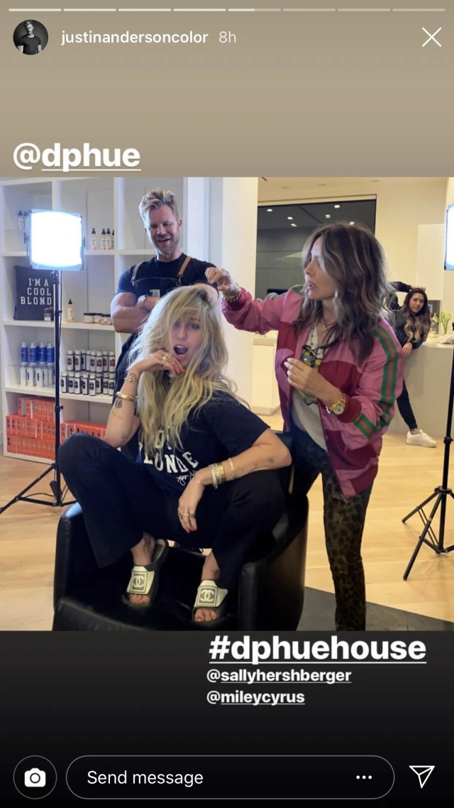 miley cyrus' new haircut looks just like hannah montana's