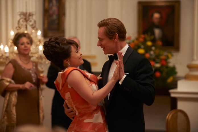 A still from season three of The Crown.