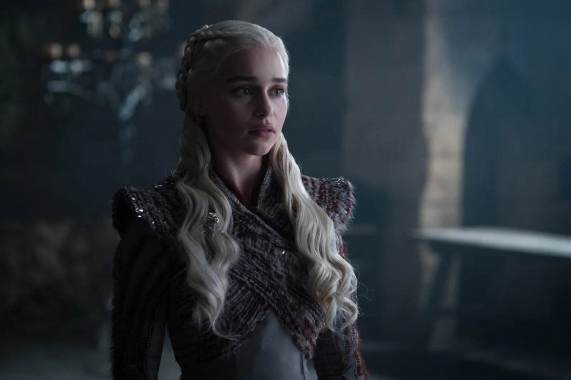Daenerys Targaryen wearing strong shoulders on 'Game of Thrones'