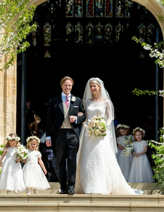 Lady Gabriella Windsor and Thomas Kingston after their wedding at St George's Chapel on May 18 2019 in Windsor England.