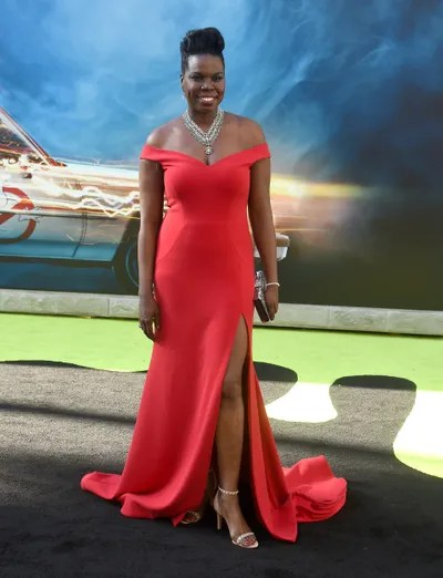 Actresscomedian Leslie Jones arrives at the premiere of Sony Pictures' Ghostbusters at TCL Chinese Theatre on July 9...
