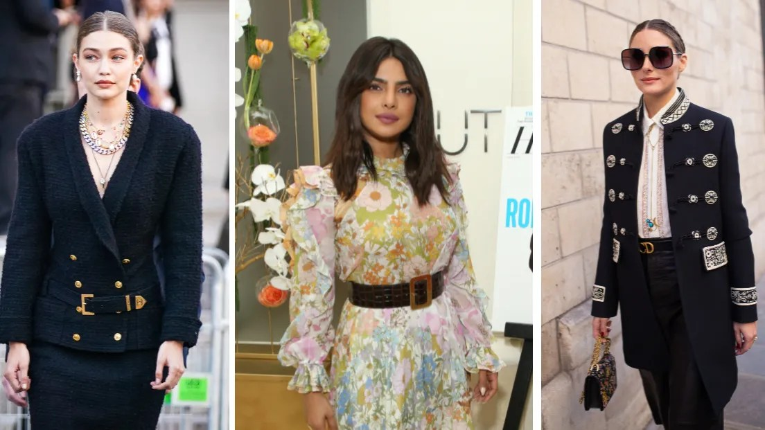 Celebs and street-style stars are finishing every outfit with a belt these