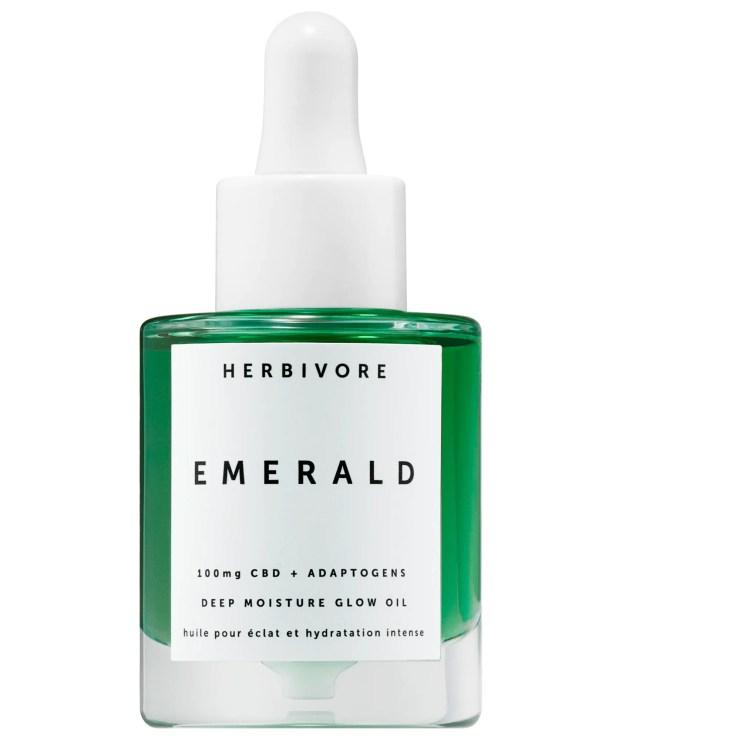Herbivore Emerald CBD + Adaptogen Deep Moisture Glow Oil