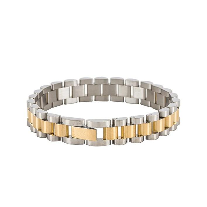 Luv AJ Two-Toned Timepiece Bracelet