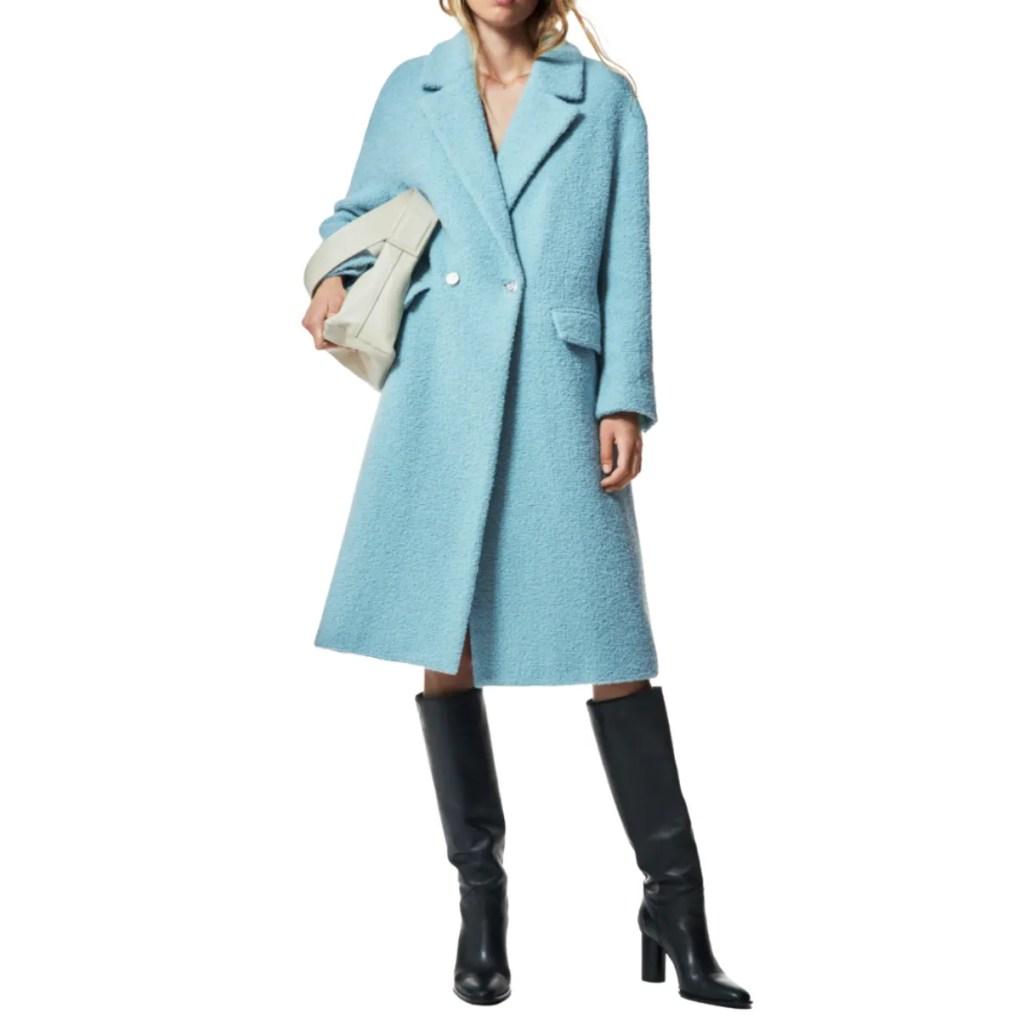 Sky Blue Wool Coat