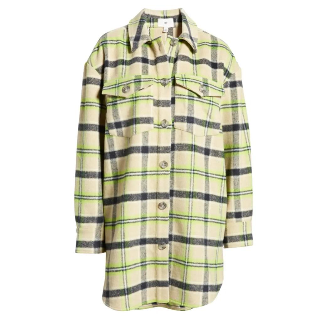 BP. Plaid Oversize Shirt Jacket