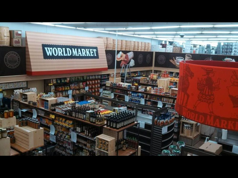 world market food section