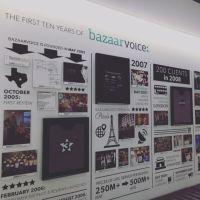 History wall... - Bazaarvoice Office Photo | Glassdoor.co.uk