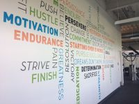 Wall Mural in the Gym at Prog... - Progressive Leasing ...