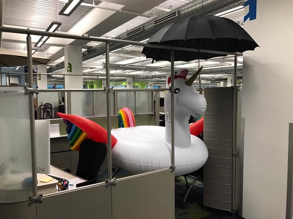 Johns office with unicorn fl  Sams Club Office Photo
