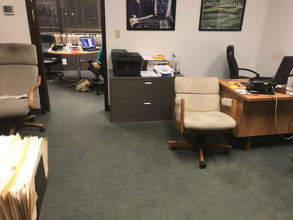 huntington chair corporation old folding rocking front office of world wide mo motion pictures beach