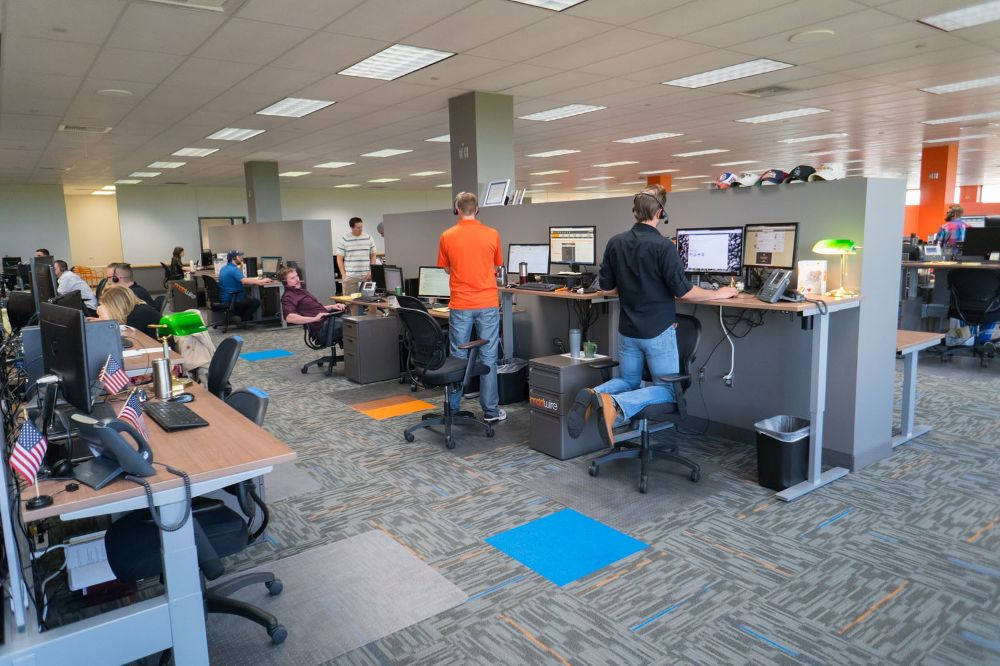 All the Desks raise and lower  Madwire Office Photo