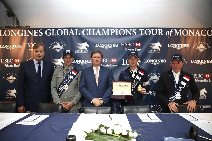 Charlez Villoz Jan Tops Scott Brash Charlotte Casiraghi Prince Albert Longines Global Champions Tour Monaco Grand Prix