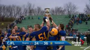 Saskatoon Hilltops win PFC Final with 36-24 victory over Regina Thunder