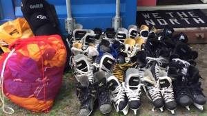Friends of the North thank community for generous hockey equipment donations