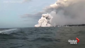 Lava explosion off Hawaii's Big Island sends molten rock crashing through tour boat roof