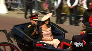 Royal newlyweds attend Queen's birthday parade