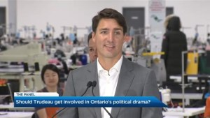 Should Trudeau get involved in Ontario's political drama?