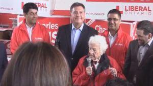 Hazel McCallion endorses Liberal candidate Charles Sousa