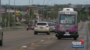 Driverless bus hits regular city street in Beaumont