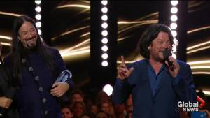 Tragically Hip gets 'played off' at Juno Awards while thanking Gord Downie
