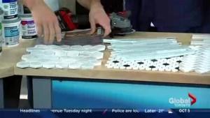 Cutting tiles for a splashy DIY backsplash